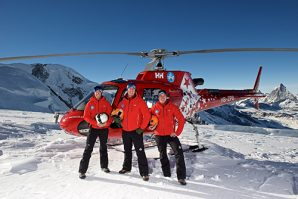 Rescue operation equipped by Helly Hansen