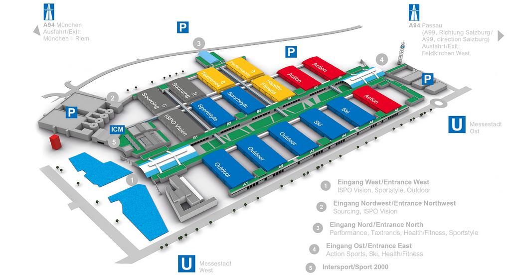 ISPO MUNICH MAP