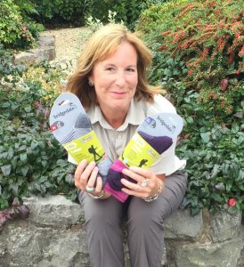 Maria Chilvers owner Country Innovation with Bridgedale Trekker socks