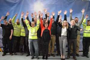 The-Rosker-Ltd-team-celebrating-the-warehouse-opening